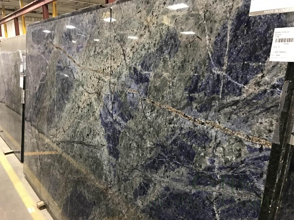 Quartzite – Soda Lite Blue slab-min